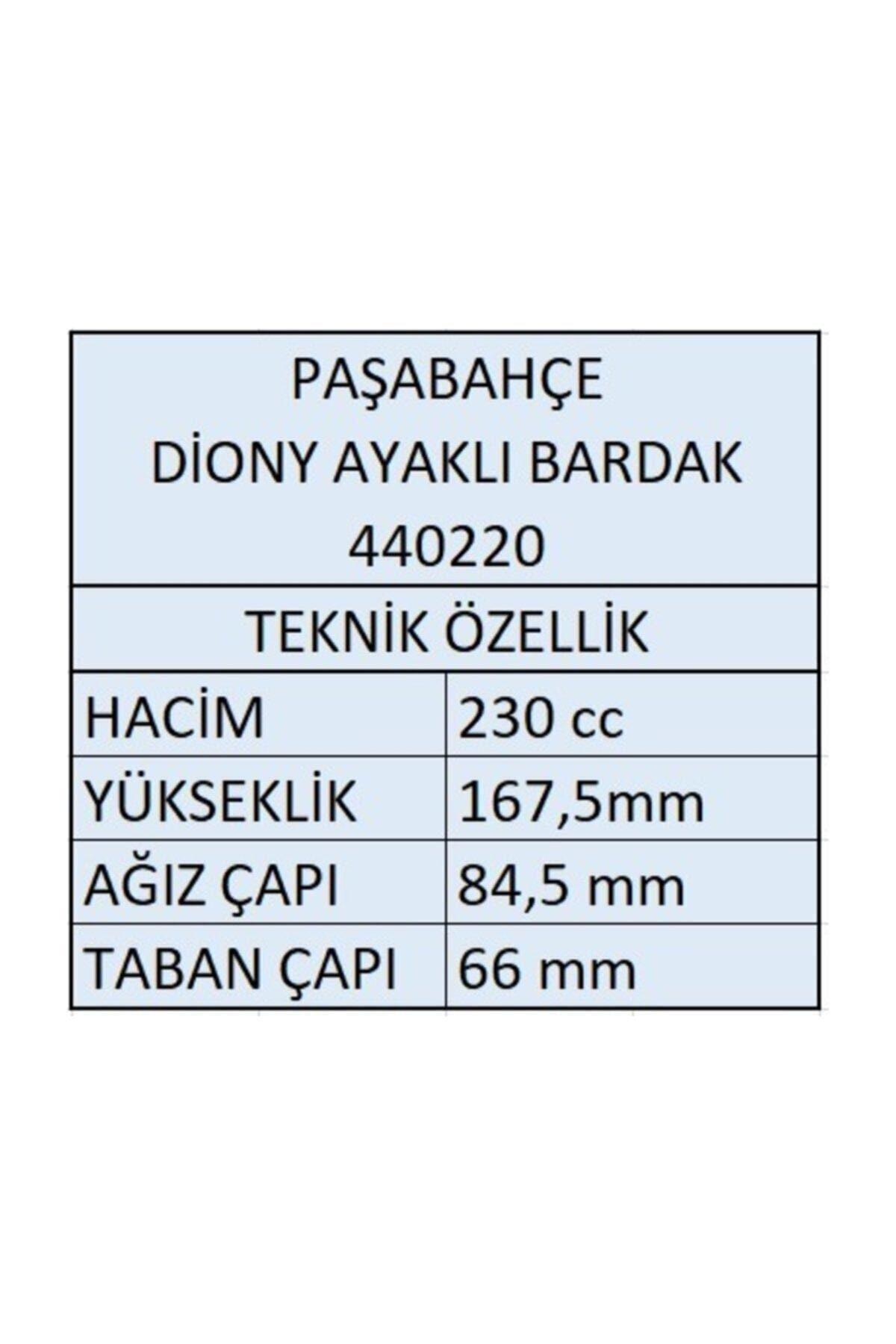 Paşabahçe Diony Kadeh Ayaklı Bardak - 12 Adet 440220