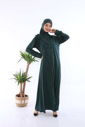 medipek Zümrüt Yeşili Fermuarlı Tek Parça Namaz Elbisesi 1