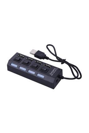 Alfais 4863 4 Port Usb 2.0 Hub Çoğaltıcı Çoklayıcı Switch Işıklı Anahtarlı 0