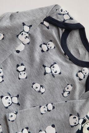 Necix's Erkek Renkli Panda Desenli 3 Set 6 Parça Çıtçıtlı Takım 2