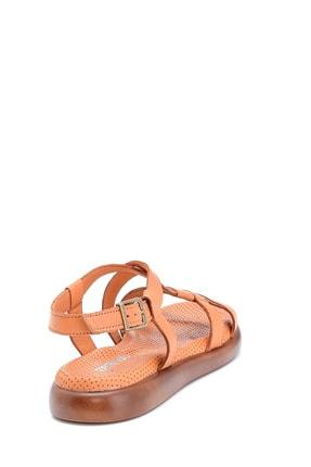 Derimod Kadın Taba Deri Sandalet 3