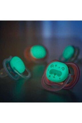 Philips Avent Ultra Air Night 2'li Silikon Karanlıkta Parlayan Emzik 0-6 Ay 3