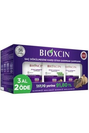 Bioxcin Siyah Sarımsak Şampuan 300mlx3 0