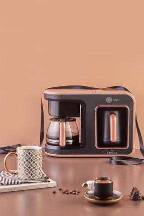 Karaca Hatır Plus 2 in 1 Rosie Brown Kahve Makinesi 2