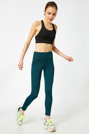 Koton Kadın Yeşil Düz Renk Tayt 1