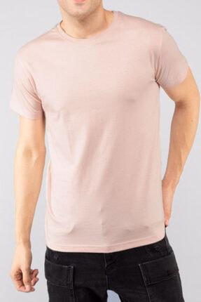 Unisex Bej Günlük Düz Renk Bisiklet Yaka Slim Fit T-shirt TSHIRT0002