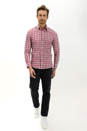Kiğılı Uzun Kol Ekose Slim Fit Gömlek 1