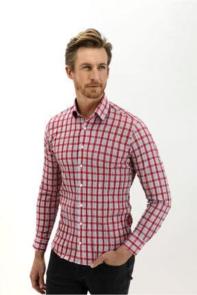 Kiğılı Uzun Kol Ekose Slim Fit Gömlek 2