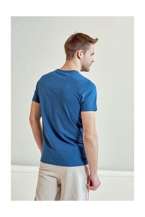 HUMMEL Admir Mavi Kısa Kollu Erkek T-Shirt 1