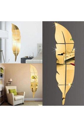 Dekoratif Duvar Dekorasyon Tüy Desen Gold Ayna Pleksi 30*120cm TÜY AYNA 120 LİK