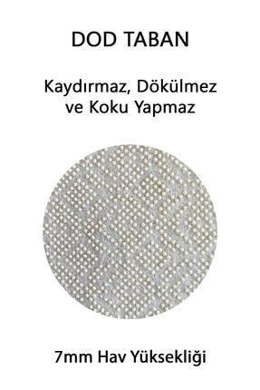 EVİMOD Grey Bohemıan Gri Beyaz Iskandinav Tarz Yıkanabilir 2li Banyo Halısı Paspas Klozet Takımı 1