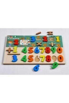 NiceTech Ahşap Bultak 2'si Birarada Set Alfabe Harfler Ve Matematik Sayılar Eğitici Puzzle Oyuncağı 1