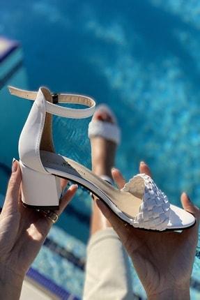 İnan Ayakkabı Tek Bant Ince Örgü Bilekli Topuklu Ayakkabı 3