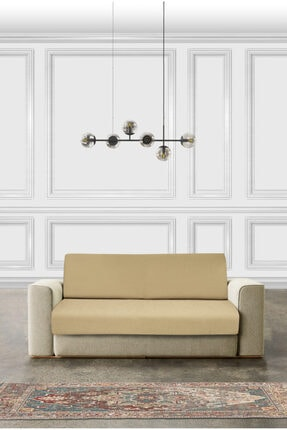 Latuda Concept 3+3+1+1 Vizon Likralı Lastikli Koltuk Örtüsü | Çekyat Örtüsü 1