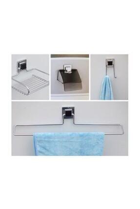 Hagen 4'lü Güçlü Yapıştırma Banyo Seti 0