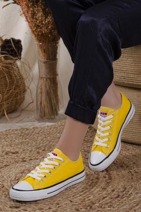 Odal Shoes Unisex Sarı Ortopedik Şeritli Sneakers Cnvrs3579746 0