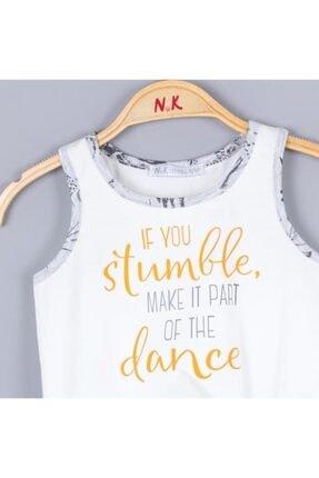 Nk Kids Kız Çocuk Ekru Dance Bluz 0