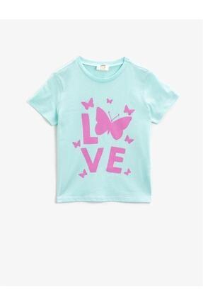 Koton Kız Çocuk Pamuklu Kisa Kollu Bisiklet Yaka T-Shirt 0