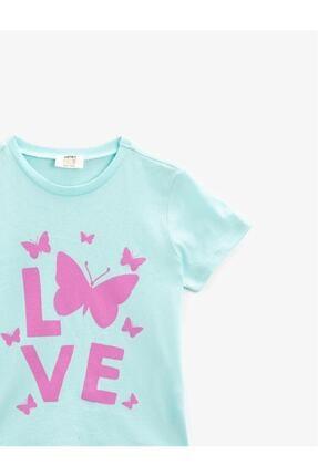 Koton Kız Çocuk Pamuklu Kisa Kollu Bisiklet Yaka T-Shirt 2