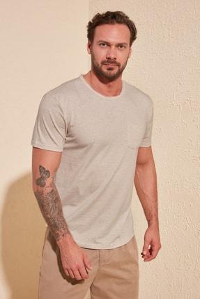 TRENDYOL MAN Taş Erkek Basic Regular Fit T-Shirt TMNSS20TS0973 1