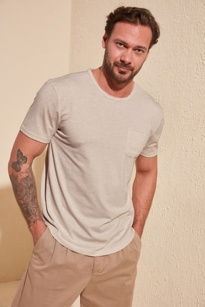 TRENDYOL MAN Taş Erkek Basic Regular Fit T-Shirt TMNSS20TS0973 2