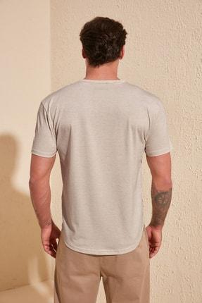 TRENDYOL MAN Taş Erkek Basic Regular Fit T-Shirt TMNSS20TS0973 3