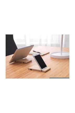 BARBUN Bergenes Ahşap Cep Telefonu Tablet Tutucu Stand 2