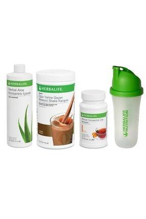 Herbalife Başlangıç Seti-1 ( 1 Çikolatalı Shake Limon 50 gr Çay Aloe Konsantre Içecek Shaker) 0