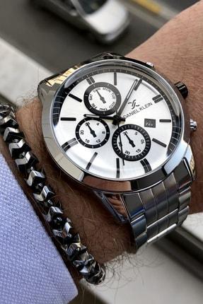 Çelik Kordon Gümüş Erkek Kol Saati + Bileklik Hediyeli resmi