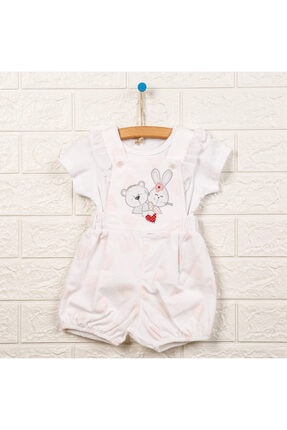 Kız Bebek Pembe Şort Salopet resmi