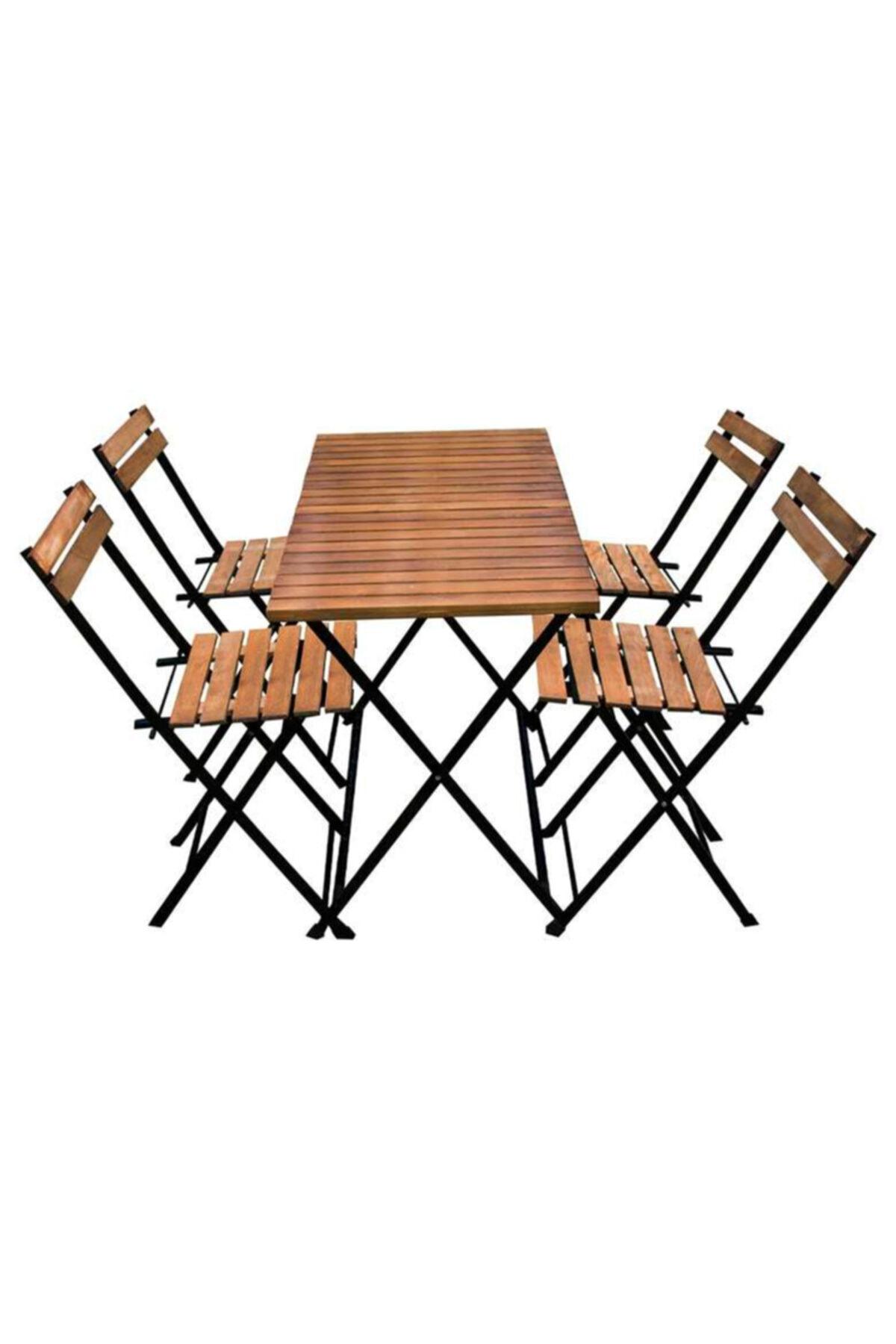 Ahşap Masa Sandalye 4+1 Takım Elk-03861