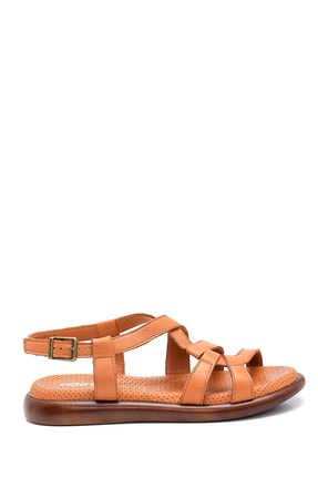 Derimod Kadın Taba Deri Sandalet 0
