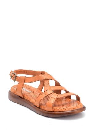 Derimod Kadın Taba Deri Sandalet 1