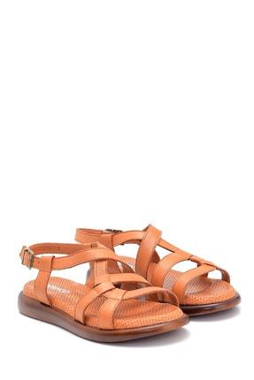 Derimod Kadın Taba Deri Sandalet 2