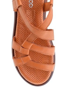 Derimod Kadın Taba Deri Sandalet 4