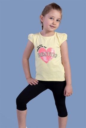 Picture of Kız Bestie Baskılı Pul Işlemeli Taytlı Takım