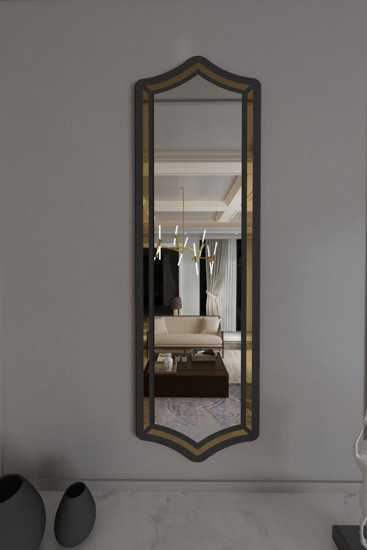 Sima Boy Aynası Antrasit / 146cm X 45cm