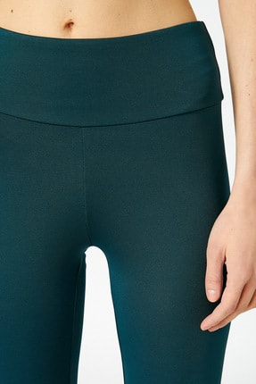Koton Kadın Yeşil Düz Renk Tayt 4