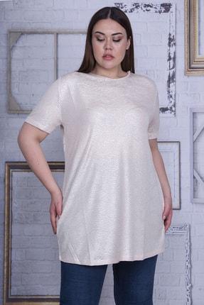 Şans Kadın Bej Sim Detaylı Bluz 65N25956 1