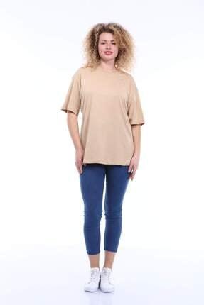 Picture of Kadın Büyük Beden Yuvarlak Yaka T-shirt Tc02