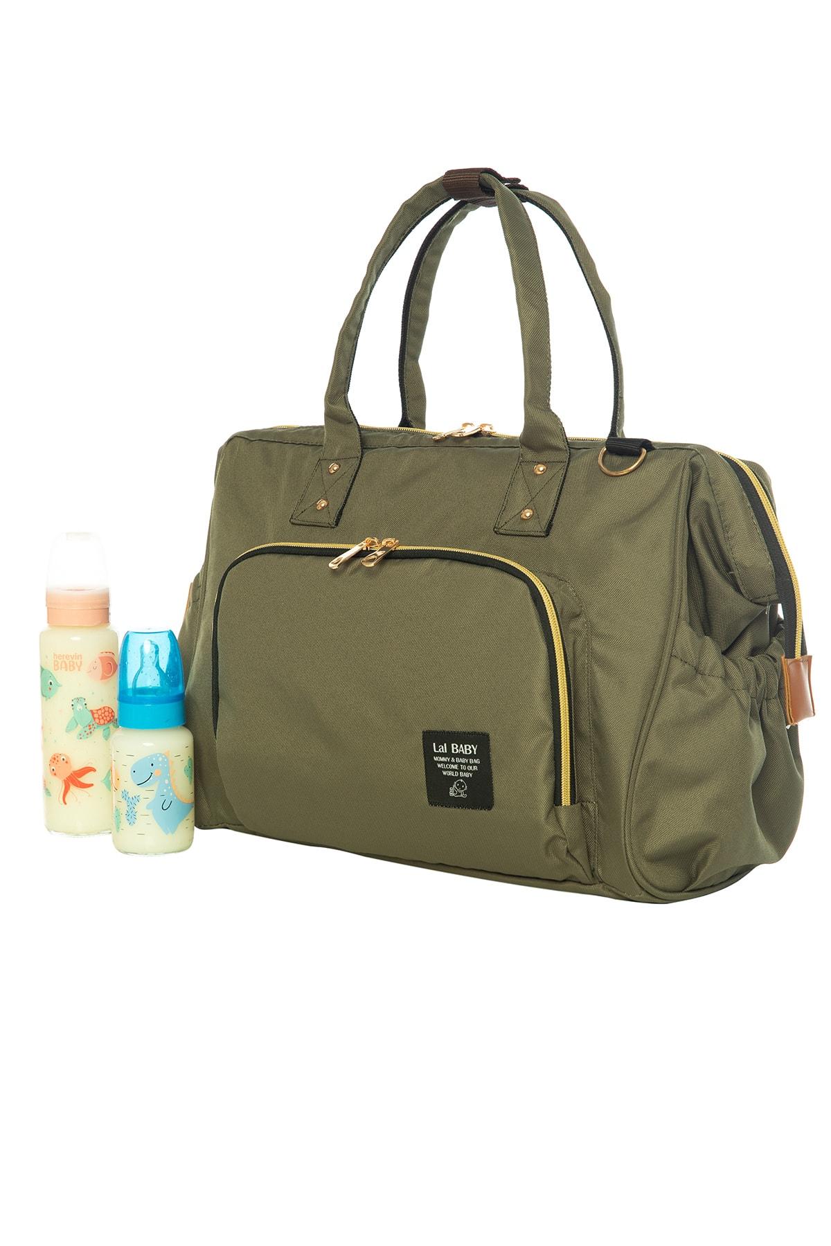 Baggage Bag Haki Omuz Askılı Anne Bebek Bakım Çantası