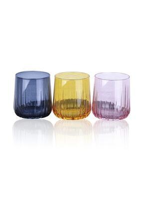 Paşabahçe Nova 3 Renkli Meşrubat Bardağı 96900 0