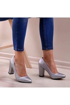 Kadın Gümüş Prada Stiletto Ayakkabı HS47756