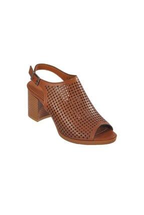 Kadın Taba Topuklu Ayakkabı HS65407
