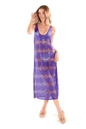 Hapuna Mor Plaj Elbisesi - Deniz Elbisesi, Plaj Giyim Modeli ING2118122021