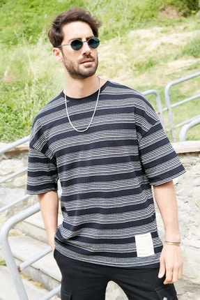 Sateen Men Erkek Siyah Ince Triko T-Shirt 0