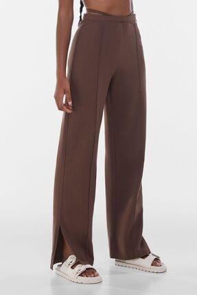 Bağcıklı Straight Fit Pamuklu Pantolon resmi