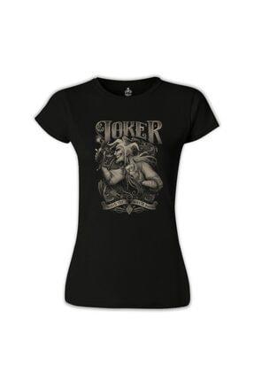 Lord T-Shirt Kadın Siyah Joker Baskılı Tshirt 0