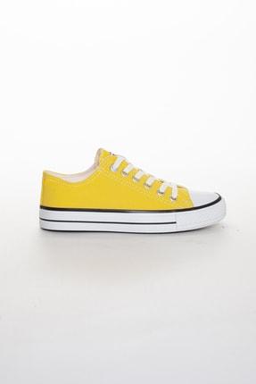 Odal Shoes Unisex Sarı Ortopedik Şeritli Sneakers Cnvrs3579746 2