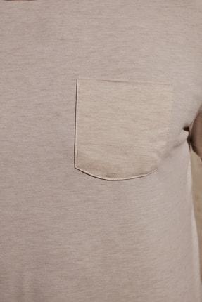 TRENDYOL MAN Taş Erkek Basic Regular Fit T-Shirt TMNSS20TS0973 4